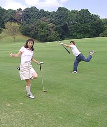 香取カントリークラブ お客様とゴルフ